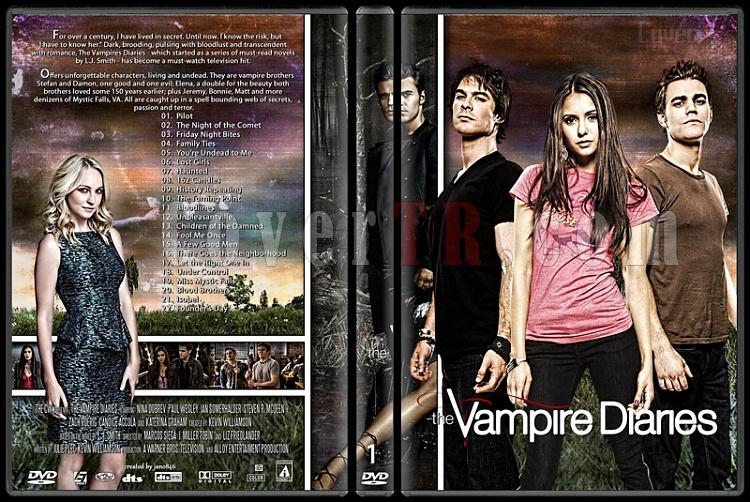 The Vampire Diaries (Seasons 1-5) - Custom Dvd Cover Set - English [2009-?]-1jpg