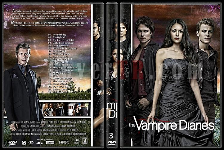 The Vampire Diaries (Seasons 1-5) - Custom Dvd Cover Set - English [2009-?]-3jpg
