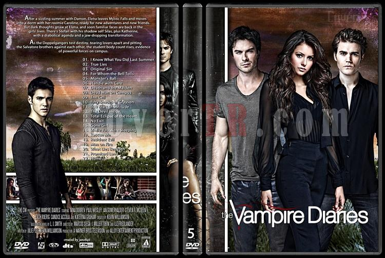 The Vampire Diaries (Seasons 1-5) - Custom Dvd Cover Set - English [2009-?]-5jpg