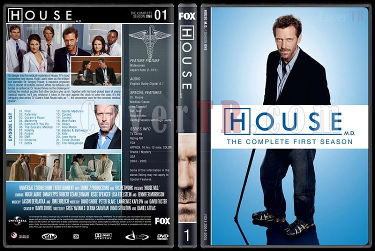 House M.D. (Seasons 1-8) - Custom Dvd Cover Set - English [2004–2012]-1jpg