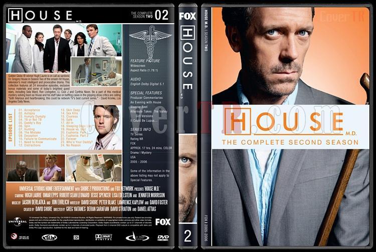 House M.D. (Seasons 1-8) - Custom Dvd Cover Set - English [2004–2012]-2jpg
