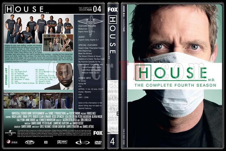 House M.D. (Seasons 1-8) - Custom Dvd Cover Set - English [2004–2012]-4jpg