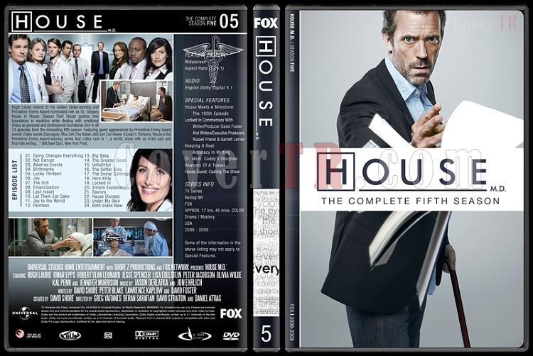 House M.D. (Seasons 1-8) - Custom Dvd Cover Set - English [2004–2012]-5jpg