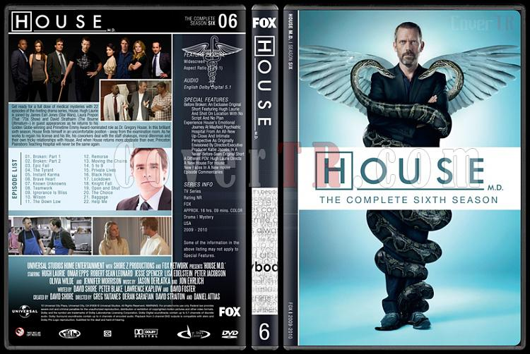 House M.D. (Seasons 1-8) - Custom Dvd Cover Set - English [2004–2012]-6jpg