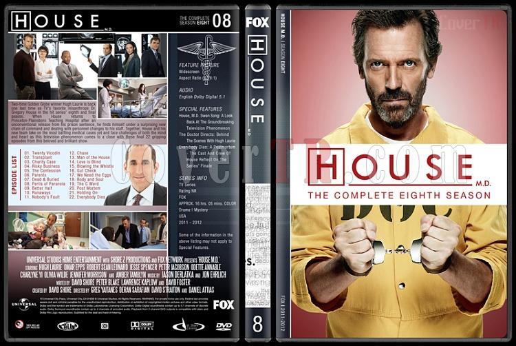 House M.D. (Seasons 1-8) - Custom Dvd Cover Set - English [2004–2012]-8jpg