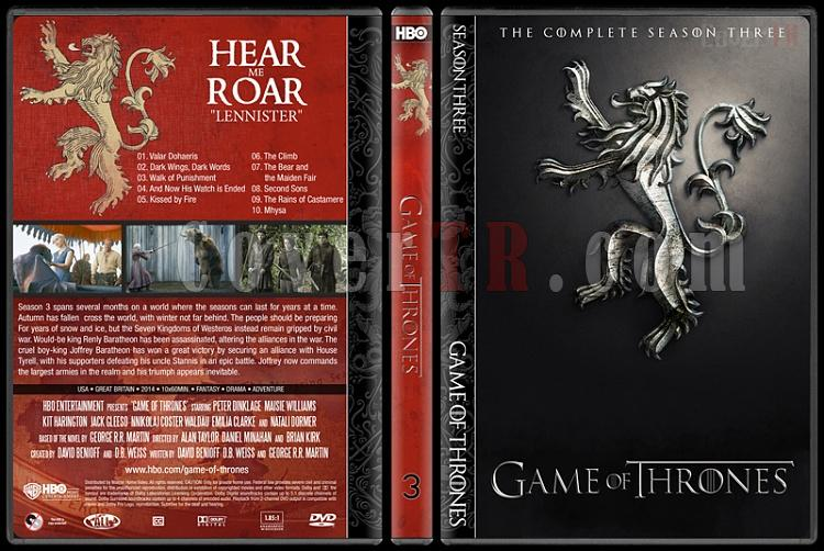 Game of Thrones (Seasons 1-5) - Custom Dvd Cover Set - English [2011-?]-3jpg