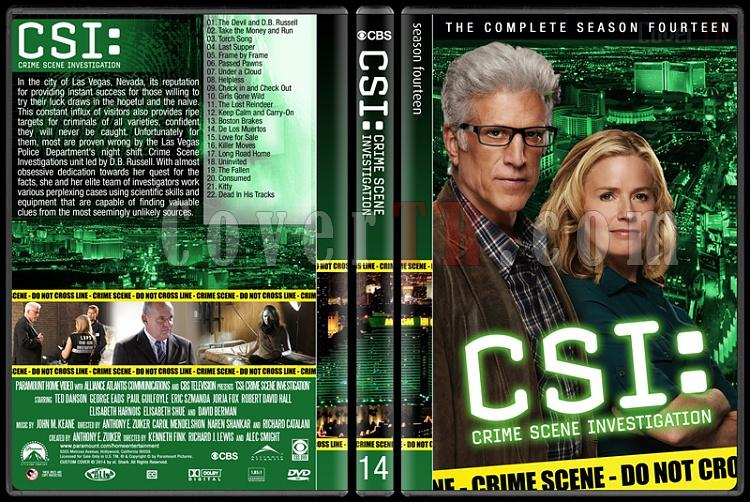 CSI: Crime Scene Investigation (Seasons 1-14) - Custom Dvd Cover Set - English [2000-?]-14jpg