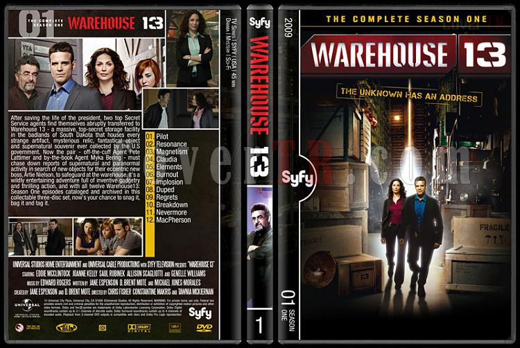 Warehouse 13 (Seasons 1-4) - Custom Dvd Cover Set - English [2009-?]-1jpg