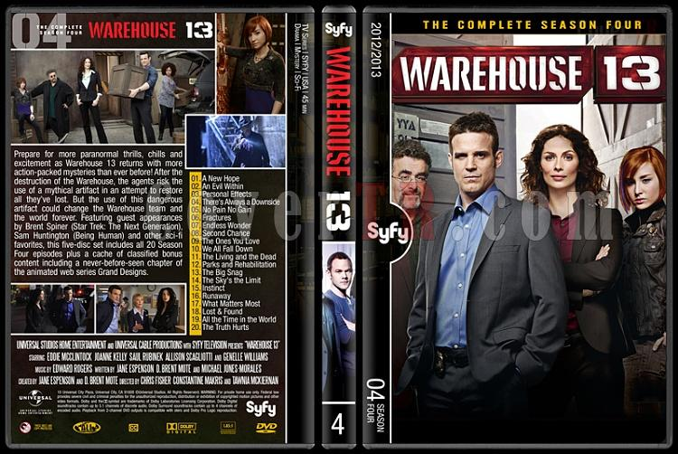Warehouse 13 (Seasons 1-4) - Custom Dvd Cover Set - English [2009-?]-4jpg