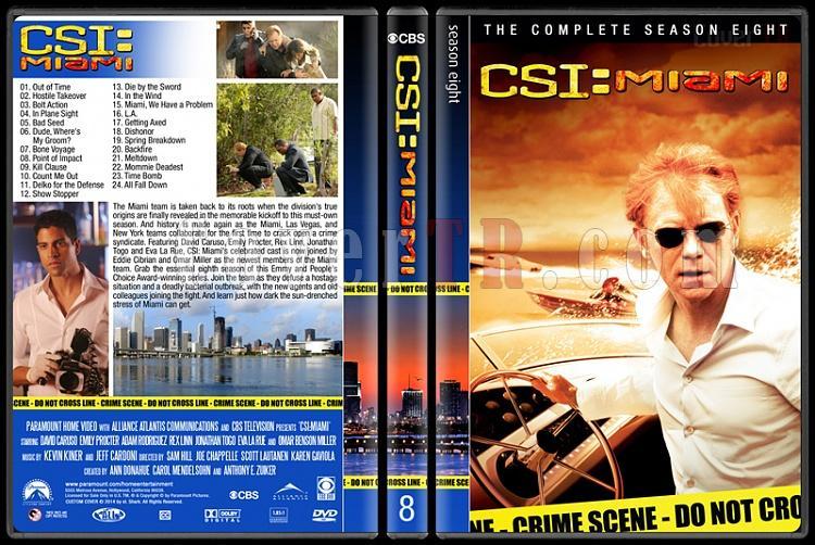 CSI: Miami (Seasons 1-10) - Custom Dvd Cover Set - English [2002-2012]-8jpg