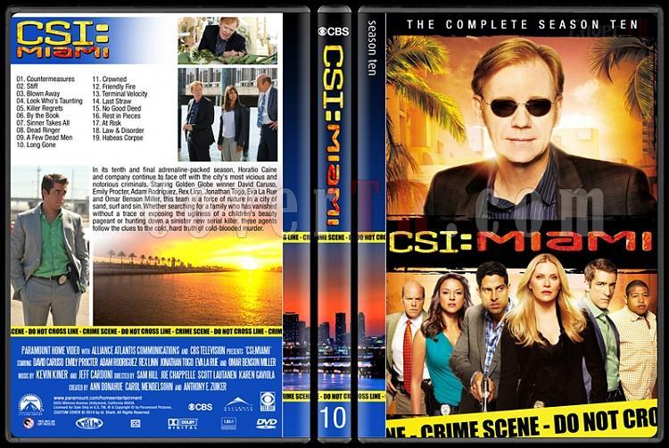 CSI: Miami (Seasons 1-10) - Custom Dvd Cover Set - English [2002-2012]-10jpg