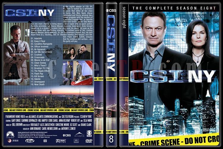 CSI: NY (Seasons 1-9) - Custom Dvd Cover Set - English [2004-2013]-8jpg