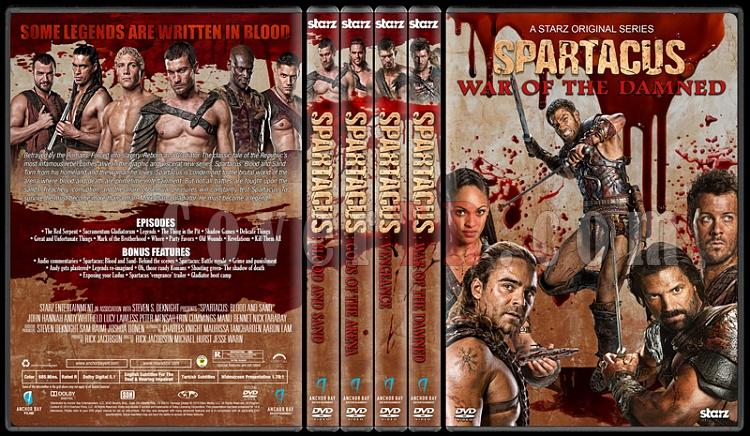 Spartacus (All Seasons) - Custom Dvd Cover Set - English [2010-2013]-1jpg