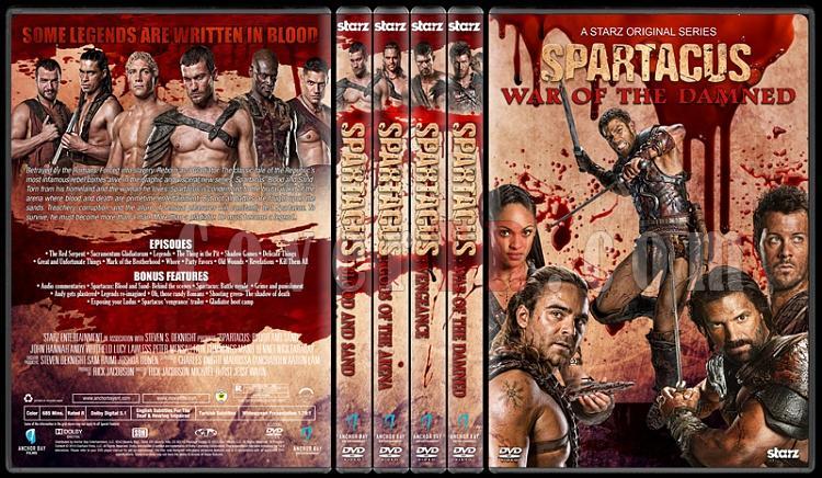 Spartacus (All Seasons) - Custom Dvd Cover Set - English [2010-2013]-1jpg