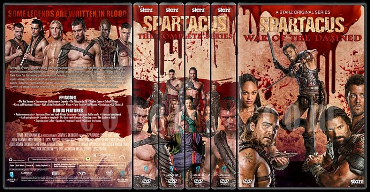 Spartacus (The Complete Series) - Custom Dvd Cover Set - English [2010-2013]-1jpg