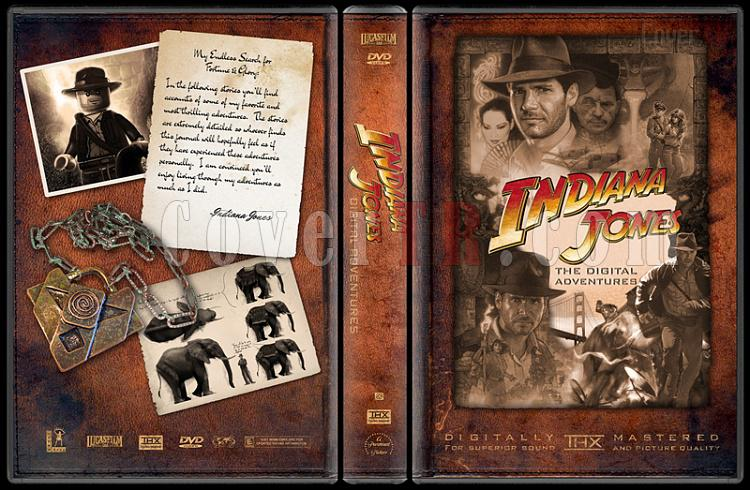 Indiana Jones Collecition - Custom Dvd Cover Set - English-indiana-jones-digital-adventuresjpg