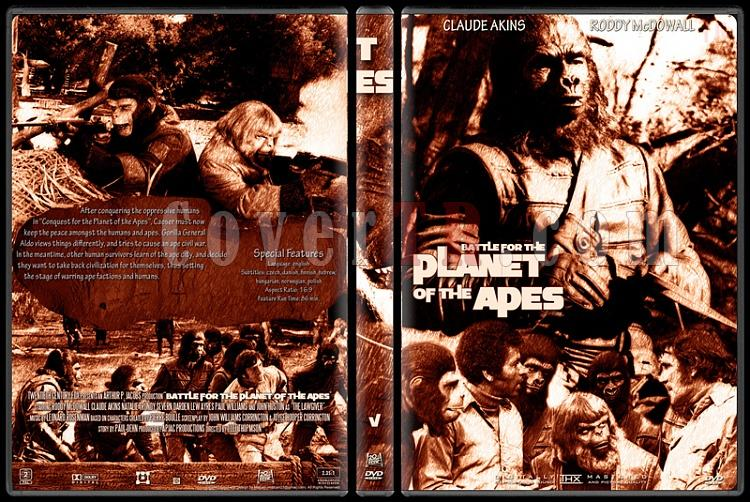 Planet Of The Apes Collection - Custom Dvd Cover Set - English [1968-2001]-5jpg