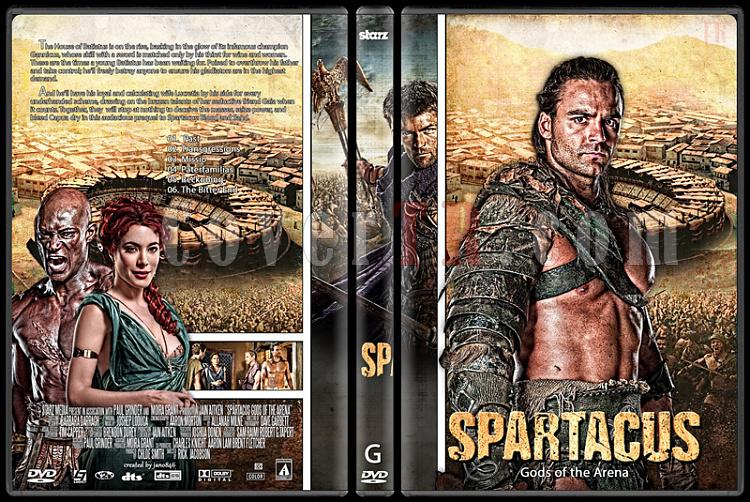 Spartacus (Season 1-4) - Custom Dvd Cover Set - English [2010-2013]-spartacus_1-gods_of_the_arenajpg