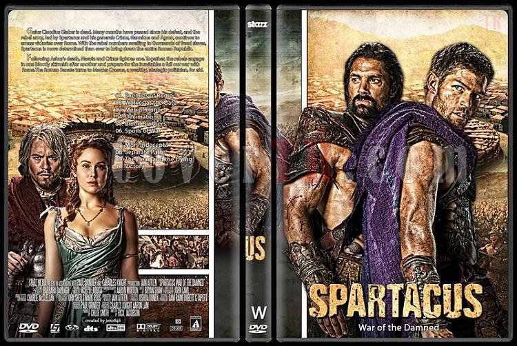 Spartacus (Season 1-4) - Custom Dvd Cover Set - English [2010-2013]-spartacus_4-war_of_the_damnedjpg