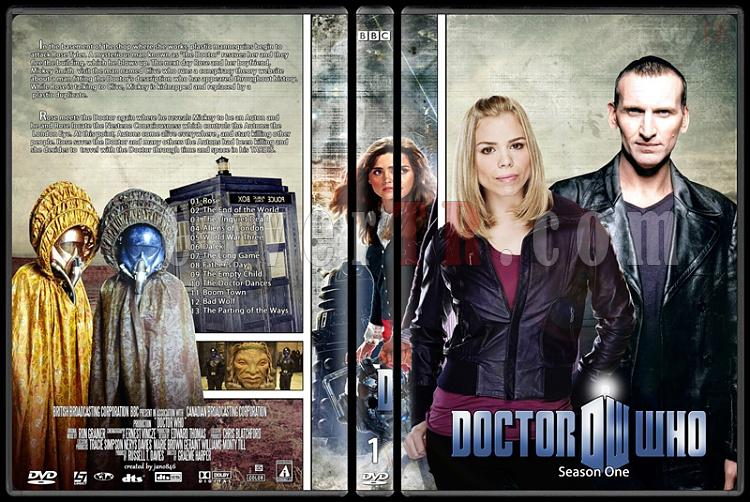 Doctor Who (Season 1-8) - Custom Dvd Cover Set - English [2005-?]-doctor_who-season-1jpg