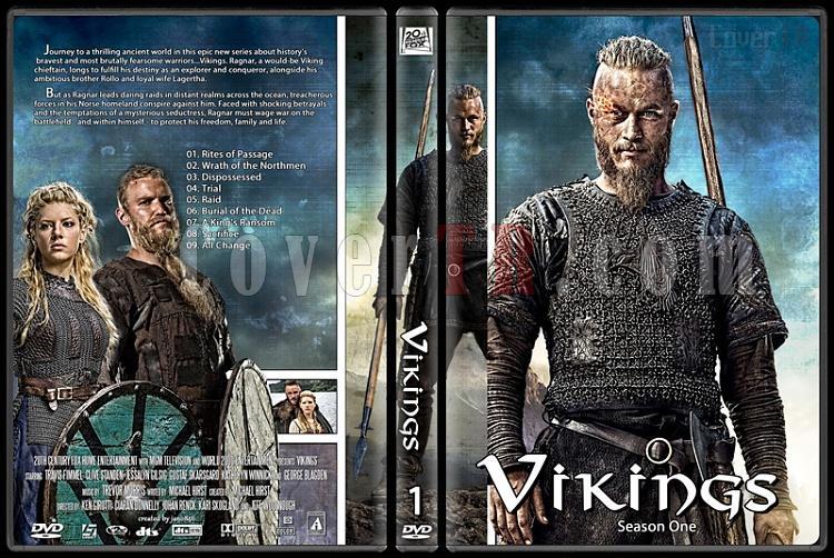 Vikings (Season 1-3) - Custom Dvd Cover Set - English [2013-?]-vikings_season_onejpg