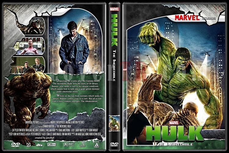Hulk (Collection) - Custom Dvd Cover Set - English [2003-2008]-the_incredible_hulkjpg