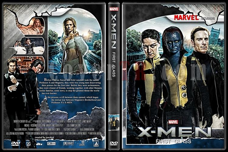X-Men and The Wolverine Collection - Custom Dvd Cover Set - English [2000-2014]-x-men_first_classjpg