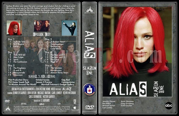 Alias (Seasons 1-4) - Custom Dvd Cover Set - English [2001-2006]-alias-season-1-dvd-cover-v1jpg