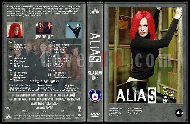 Alias (Seasons 1-4) - Custom Dvd Cover Set - English [2001-2006]-alias-season-1-dvd-cover-v2jpg