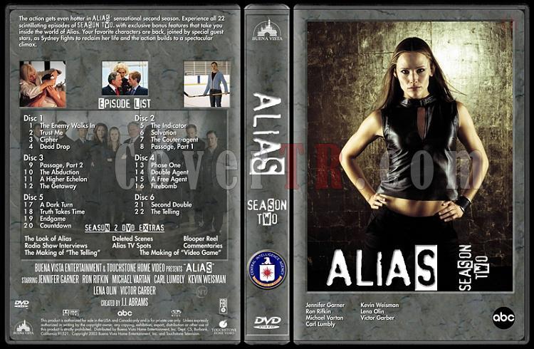 Alias (Seasons 1-4) - Custom Dvd Cover Set - English [2001-2006]-alias-season-2-dvd-coverjpg