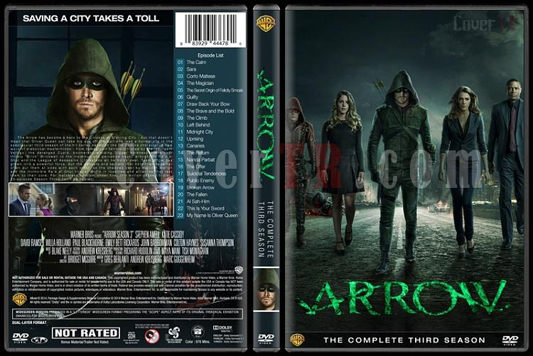Arrow (Seasons 1-3) - Custom Dvd Cover Set - English [2012-?]-3jpg