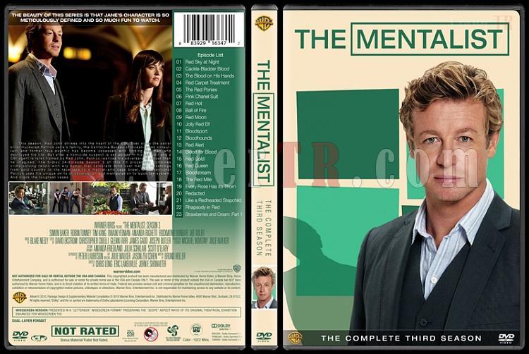 The Mentalist (Seasons 1-7) - Custom Dvd Cover Set - English [2008-2015]-mentalist-season-3jpg