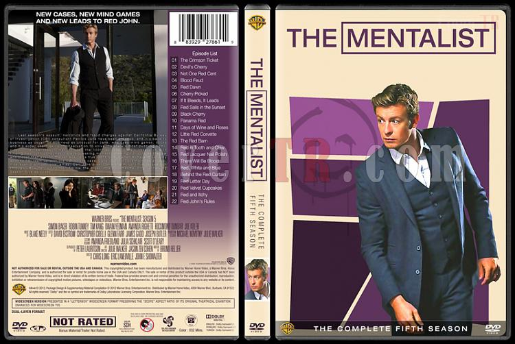 The Mentalist (Seasons 1-7) - Custom Dvd Cover Set - English [2008-2015]-mentalist-season-5jpg
