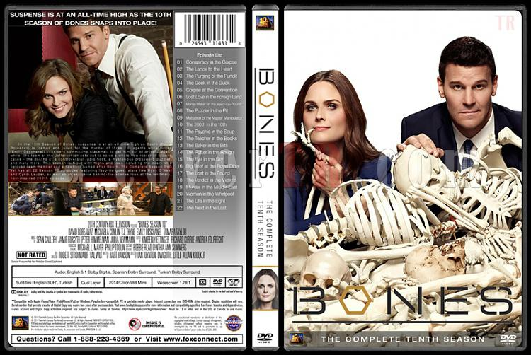 Bones (Seasons 1-10) - Custom Dvd Cover Set - English [2005-?]-bones-season-10jpg