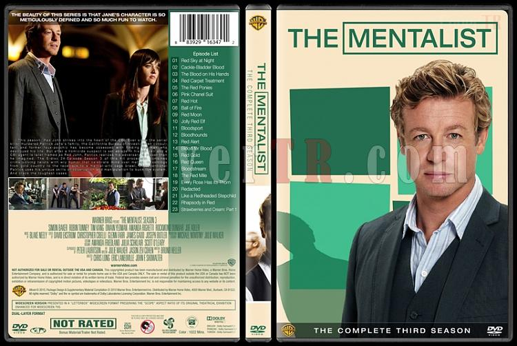 The Mentalist (Seasons 1-7) - Custom Dvd Cover Set - English [2008-2015]-mentalist-season-3-spinejpg