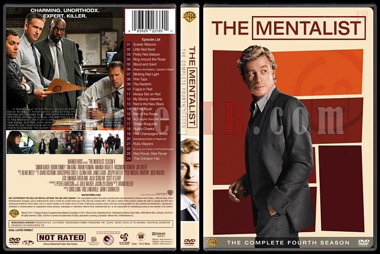 The Mentalist (Seasons 1-7) - Custom Dvd Cover Set - English [2008-2015]-mentalist-season-4-spinejpg