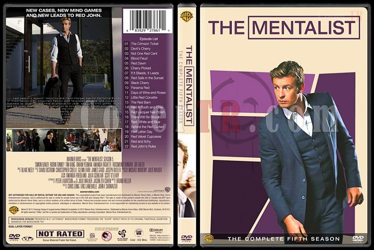 The Mentalist (Seasons 1-7) - Custom Dvd Cover Set - English [2008-2015]-mentalist-season-5-spinejpg