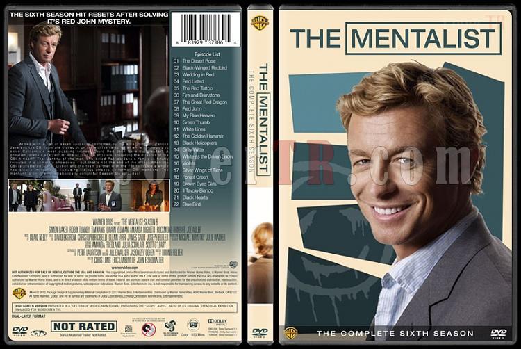 The Mentalist (Seasons 1-7) - Custom Dvd Cover Set - English [2008-2015]-mentalist-season-6-spinejpg