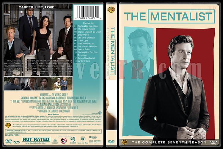 The Mentalist (Seasons 1-7) - Custom Dvd Cover Set - English [2008-2015]-mentalist-season-7-spinejpg