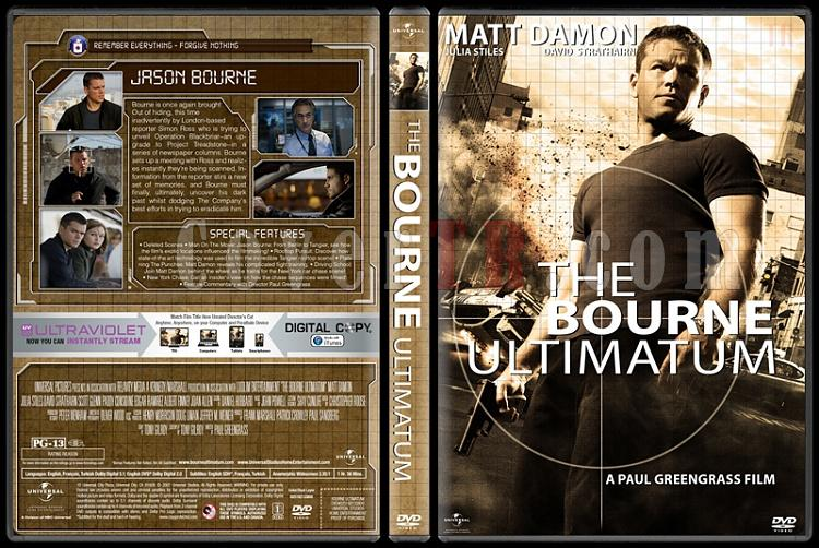 The Bourne Collection - Custom Dvd Cover Set - English [2002-2012]-3jpg
