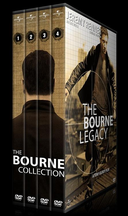 The Bourne Collection - Custom Dvd Cover Set - English [2002-2012]-0jpg