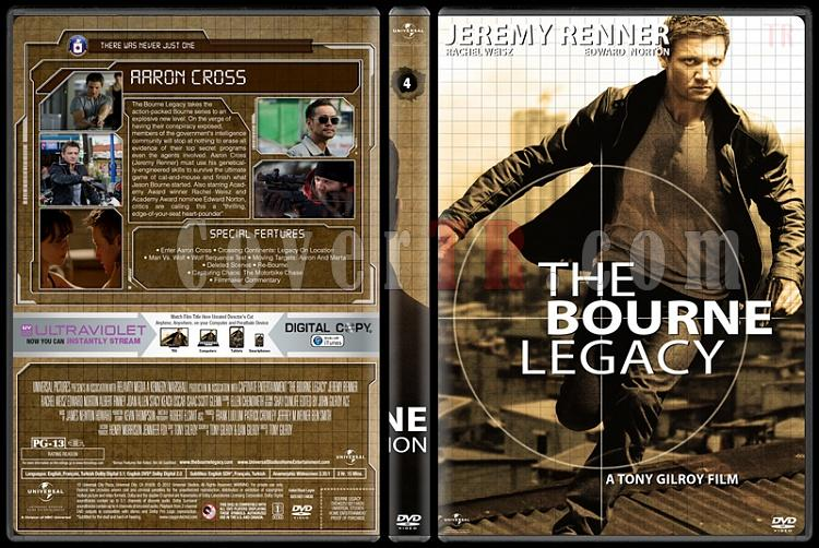 The Bourne Collection - Custom Dvd Cover Set - English [2002-2012]-4jpg