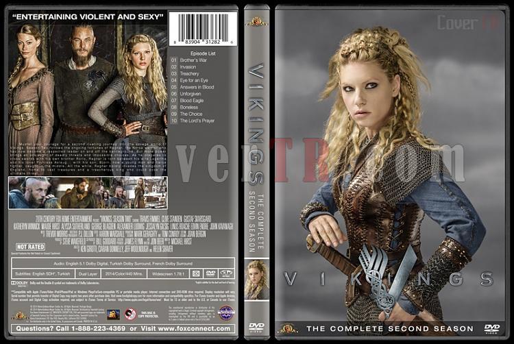 Vikings (Season 1-4) - Custom Dvd Cover Set - English [2013-?]-vikings-season-2jpg