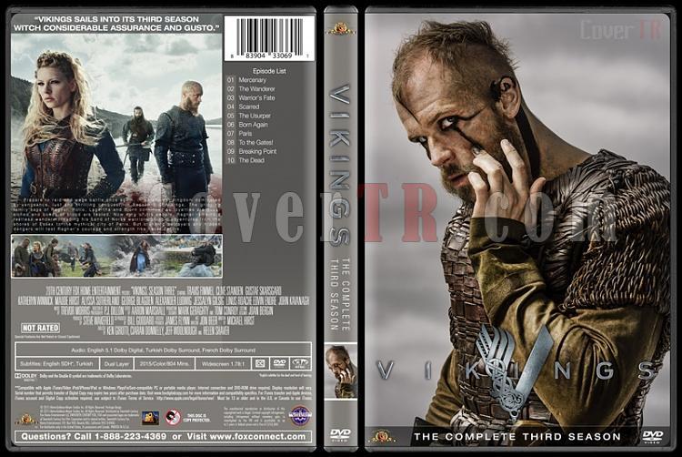 Vikings (Season 1-4) - Custom Dvd Cover Set - English [2013-?]-vikings-season-3jpg