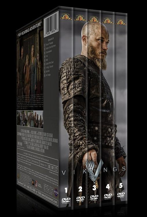 Vikings (Season 1-4) - Custom Dvd Cover Set - English [2013-?]-00jpg
