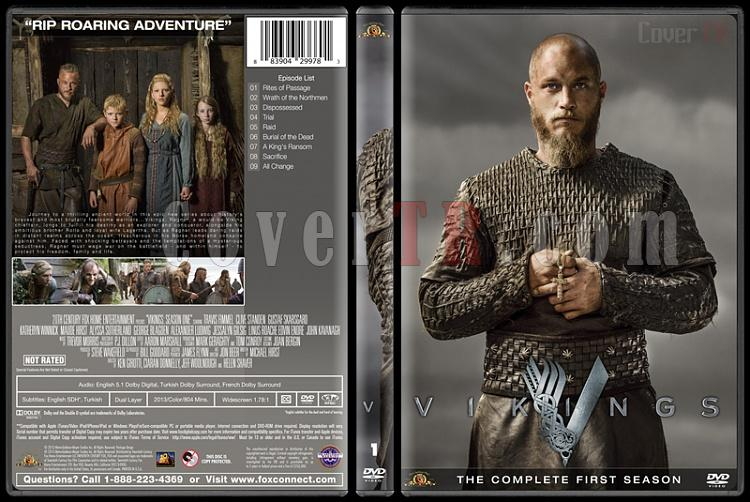 Vikings (Season 1-4) - Custom Dvd Cover Set - English [2013-?]-vikings-season-1jpg