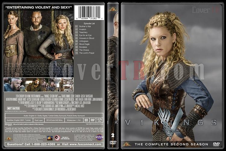 Vikings (Season 1-4) - Custom Dvd Cover Set - English [2013-?]-vikings-season-2jpg