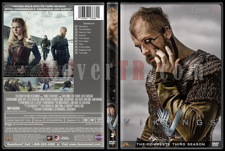 Vikings (Season 1-4) - Custom Dvd Cover Set - English [2013-?]-vikings-season-3jpg