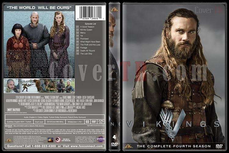 Vikings (Season 1-4) - Custom Dvd Cover Set - English [2013-?]-vikings-season-4jpg