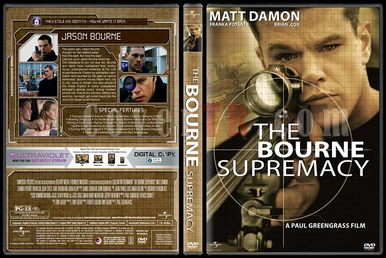 The Bourne Collection - Custom Dvd Cover Set - English [2002-2016]-03jpg